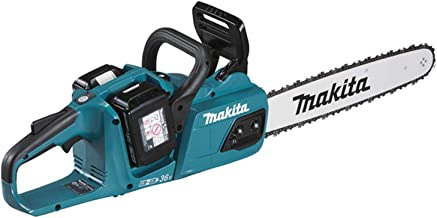 Makita DUC405PT2 Twin 18V (36V) Li-ion LXT 40cm Brushless Chainsaw Complete with 2 x 5.0 Ah Batteries and Twin Port Charger