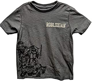 Roblox Grey Group Tee Robloxian Shirt for Boys (X-Large (14-16))