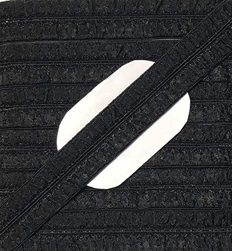 Großhandel für Schneiderbedarf 5 m elastisches Einfaßband 14 mm schwarz
