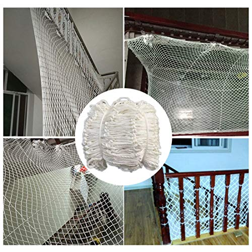 Safety Net Balcony Protection Safety Netting For Railings Garden Netting/nets For Plants Safety Netting Banister For Cats And Kids Net Garden Plant Covers 6mm/5cm White Kindergarten School Garden Plan