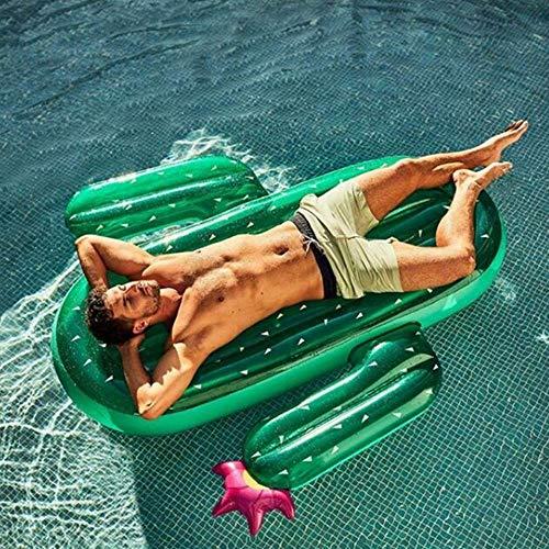 Gcxzb Schwimmreifen Aufblasbare Pool Spielzeug Kaktus schwimmende Reihenhalterung Floating Erwachsene Schwimmbett Fashion Swim Ring Floats Großhandel