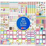 Avery Fitness Planner Stickers Pack, 1,318 Stickers, Health and Fitness Sticker Sheets (6787)