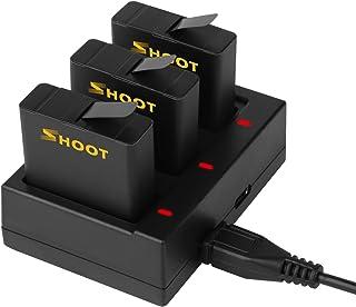 SHOOT Baterías con Cargador de Batería Triple para Gopro Hero 7 Black Hero 6 BlackHero 5 Black Hero 2018