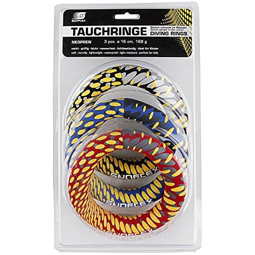 Sunflex Tauchen Ringe (3Stück)–Mehrfarbig