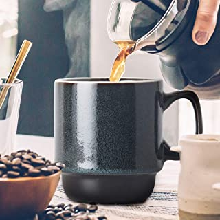 Sharpdo Ceramic Kiln Mug Coffee Cup-270Ml-Black