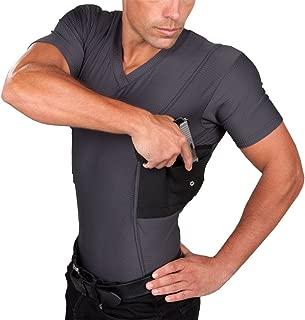 Mens Concealment V-Neck Coolux Shirt T1275
