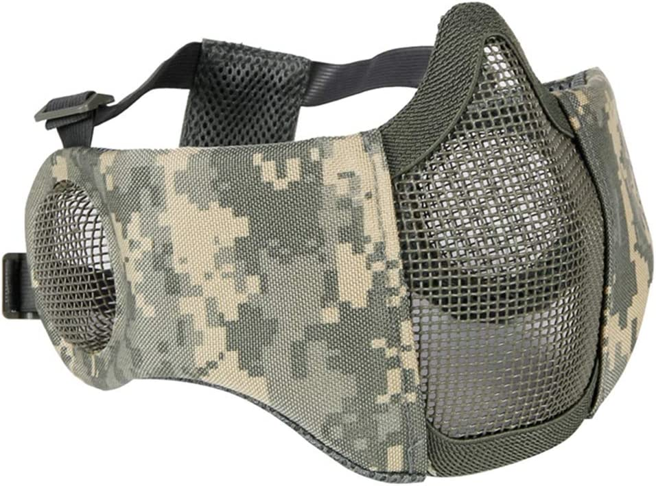CARACHOME CS Mascara tactica Militar, Mascara Airsoft,Mascara Proteccion con la Correa Ajustable, Conveniente para la Caza del Paintball de la Caza del Traje de Cosplay del Arma de BB Gun,B