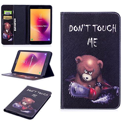 Funda para Galaxy Tab A 8.0 2017, a Prueba de Golpes, de Piel sintética, magnética, Desmontable, con Tarjetero, Bolsillos para Dinero y función Atril para Samsung Galaxy Tab A 8.0 SM-T385/T380 2017