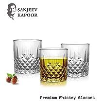 Soogo Crystal Rock Wiskey Glasss, 320 ml, Transparent, Set of 6
