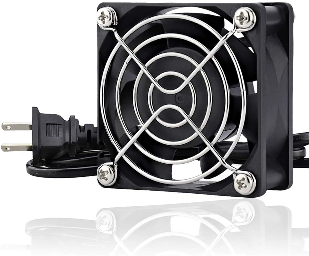 GDSTIME EC Cooling Fan 60mm x 60mm x 25mm AC 110V 115V 120V 220V 240V Dual Ball Bearings
