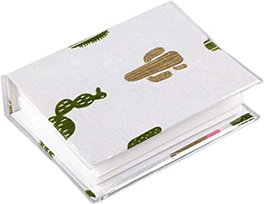 Trycooling Fabric 100 Pockets Photo Album Photo Storage Case 4x6 Photos with Clear Plastic Protector (Cactus)