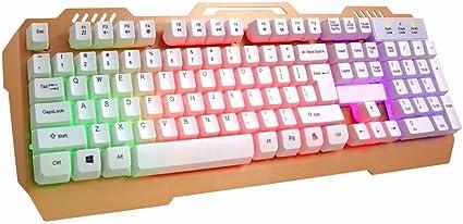 S keyboard Teclado Retroiluminado con Arco Iris Mecánico sin ...
