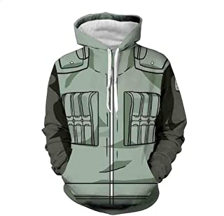 CHENMA Men Cosplay Naruto 3D Print Pullover Hoodie Sweatshirt with Front Pocket