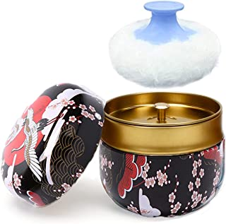Powder Case with Powder Puff, Large Capacity Body Powder Container, Multifunctional Box for Baby After-Bath Care for Home ...
