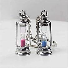 Leuke metalen lamp vorm timer zandloper sleutelhanger ring paar sleutelhanger creatieve trinket nieuwtje beste cadeau voor...