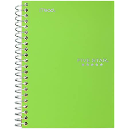 Color Selected for You 11 x 8-1//2 inches 100 Sheets Spiral Notebook 1 Subject 1 Count
