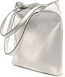 Women's Soft Leather Tote Purses Handbags Shoulder Bags Lightweight Satchel Zipper Shopper Light and Thin Waterproof PU