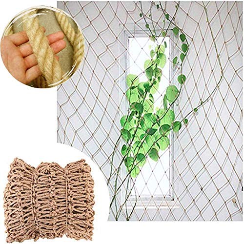 RZM Rope Net Decor Net Anti-fall Net ,Protective Net Hemp Rope Ceiling Mesh Hanging Clothes Nets Wall-mounted Hammock Windows Indoor Stairs 4 / 6mm Rope Thick,customizable child safety netting for bal