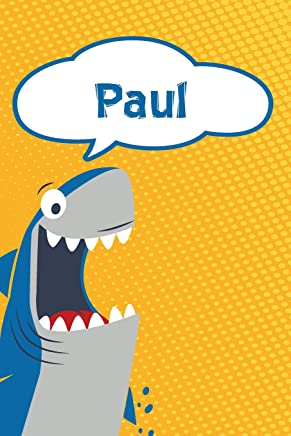 Paul: Great White Shark Blank Comic Book Notebook Journal book 120 pages 6x9