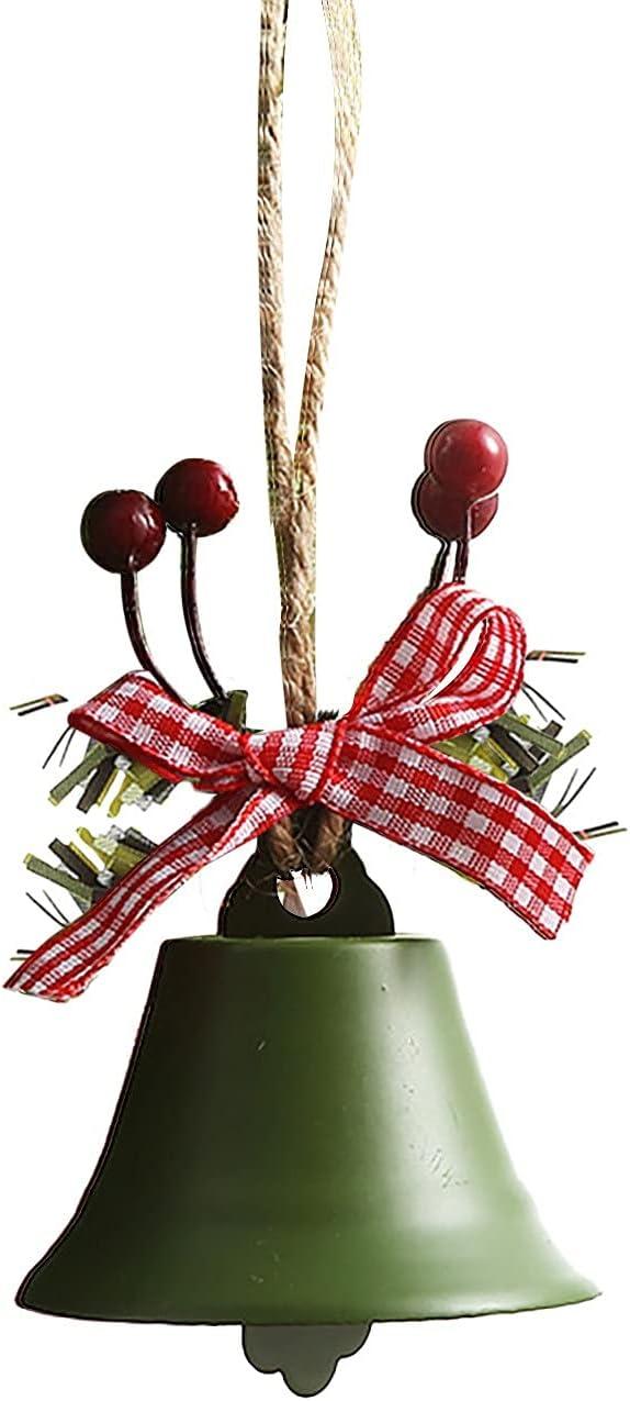 RYGHEWE Christmas Deluxe Tree Ornaments 5 popular Bells Be Small Jingle Handmade