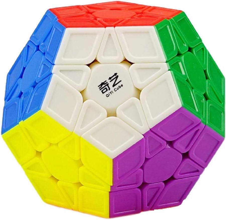 Megaminx Speed Cube, Qiyi Stickerless 3x3x3 Pentagonal Speed Cube Dodecahedron Magic Cube Puzzle