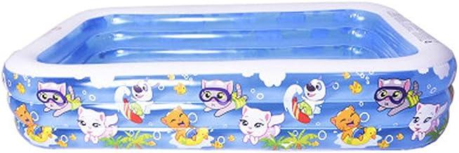 WJXBoos Familia Piscinas Hinchables,Adulto Niños Piscinas para Niños,Espesado Rectangular Piscinas Hinchables Infantiles,Completo-tamaño Piscinas Hinchables Dibujos Animados 305x183x60 Cm