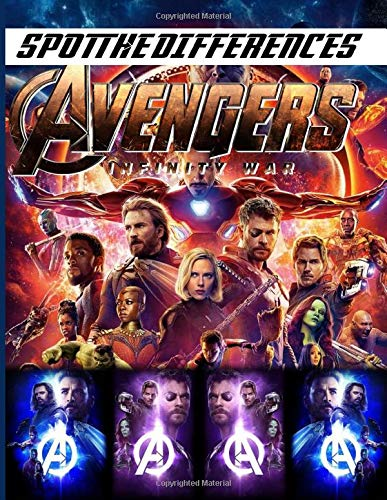 Infinity War Spot The Difference: Premium Unofficial Picture Puzzle Activity Books For Adults! Relaxing