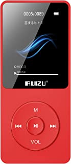 Mp3 Player, RUIZU X02 Ultra Slim Music Player with FM Radio, Voice Recorder, Video Play, Text Reading, 80 Hours Playback a...