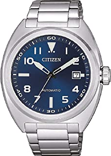 CITIZEN Mens Mechanical Watch, Analog Display and Stainless Steel Strap - NJ0100-89L