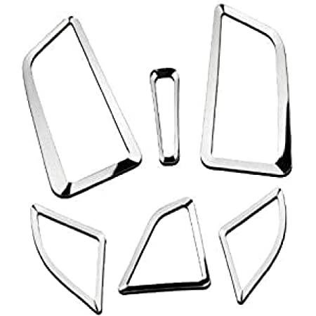 Emblem Trading Luftdüsen Lüftungs Rahmen Abdeckung Mittelkonsole Armaturenbrett Verkleidung Blende Abs Kunststoff Chrom Autozubehör Auto
