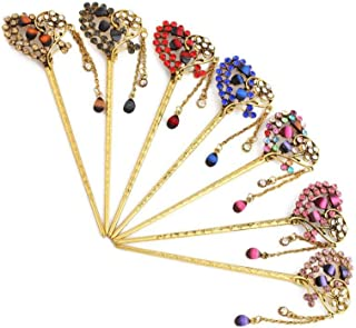LUKEEXIN 7 Pcs Retro Hairpin Tassel Rhinestone Hair Accessories for Women Girls (Color : 7 pcs)