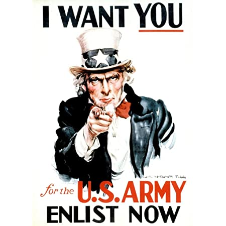 Pacifica Island Art I Want You For U S Army Wwi Uncle Sam Vintage War Poster By James Montgomery Flagg C 1978 8in X 12in Vintage Metal Tin Sign Posters