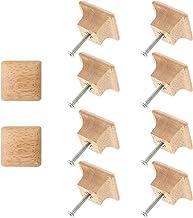 Angoily 10Pcs Vierkante Houten Knoppen Houten Kast Handgrepen Kast Pull Knoppen Voor Dressoir Kast Furniture Hardware