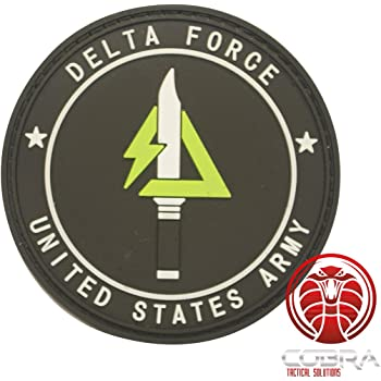 Cobra Tactical Solutions Delta Force United States Parche PVC Táctico Moral Militar con Cinta adherente de Airsoft Paintball para Ropa de Mochila táctica: Amazon.es: Hogar