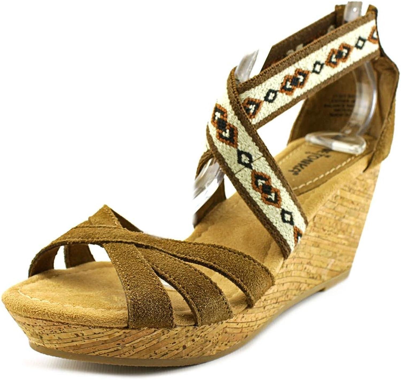 Minnetonka Drew Suede Wedge Sandal