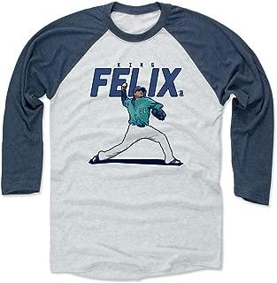 Felix Hernandez Shirt - Seattle Baseball Raglan Tee - Felix Hernandez Score