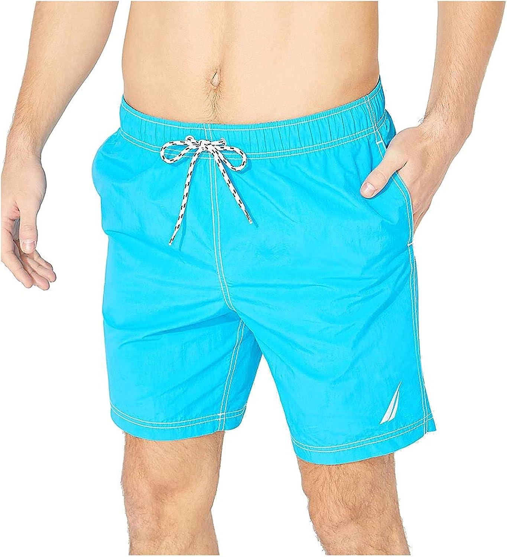 Nautica Men's Standard Full Swim Solid Trunks Fixed 25% OFF price for sale Elastic