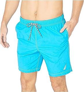 Men's Standard Full Elastic Solid Swim Trunks