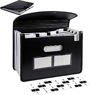 Uquelic Trieur Document A4 Extensible 12 Compartiments Porte Document Accordéon Document Fichier Wallet Boite de Classemen...