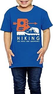 Yishuo Boys Hand Lettered Adventure Awaits Classic Travel T-Shirts Short Sleeve RoyalBlue 3 Toddler