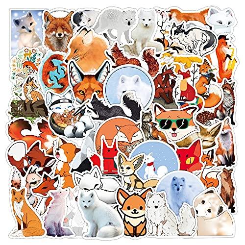 YOUYOU Lindo Fox Sticker Animal Graffiti Diy Equipaje Monopatín Teléfono Móvil Papelería Impermeable Decorativo Etiqueta 50pcs