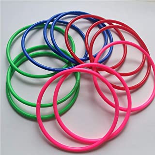 Baby bells 12 Pcs Large Size Plastic Toss Rings for Speed and Agility Practice Games