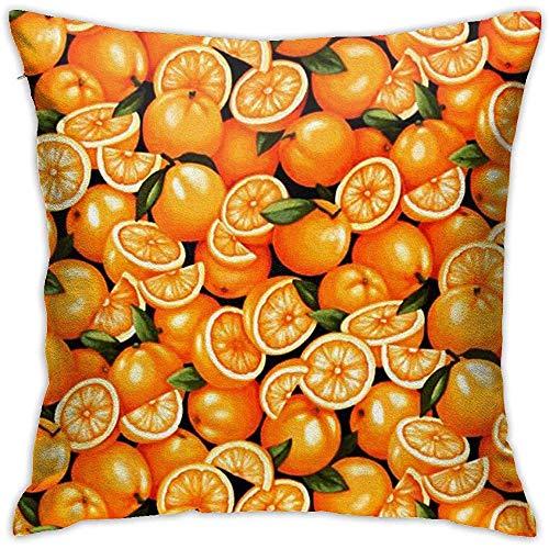 Gjiesh Funda de cojín de Tiro Naranja Funda de Almohada Cuadrada Diseño Decorativo de Doble Cara Cuadrado 45x45cm Familia Sofá de Interior Coche