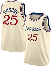 Jersey Maglia Canotta Stile di Abbigliamento Sportivo Palestra M, Blu Lalagofe Ben Simmons Philadelphia 76ers Swingman Ricamata Blu