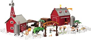 Constructive Playthings CP Toys 100 pc. Deluxe Barnyard Playset with 35 Assorted Animals