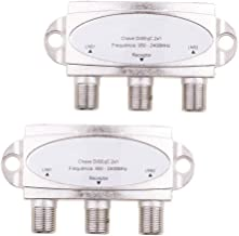Prettyia 2x1 DiSEqC Switch Satellite Antenna Flat LNB LNBF Switch for TV Receivers