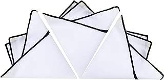 Mens Cotton Pocket Square Set Solid Color Handkerchief