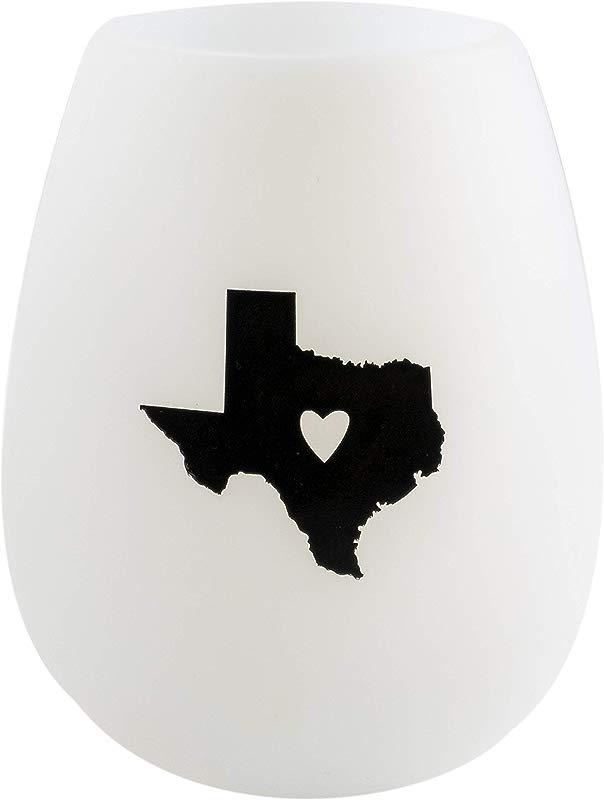 Texas Silhoutte In Black 12 5 Oz Silicone Wine Glass