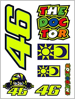 Valentino Rossi Multi Vr46 Small Classic Sticker Pack (Default, Yellow)