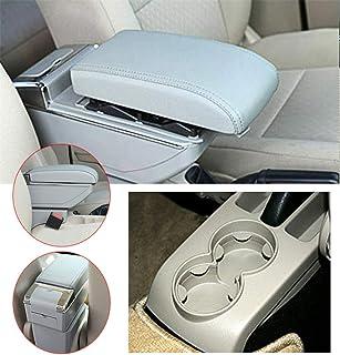 Car Bracciolo Per V olkswagen Polo 9N 2002-2009 Console Centrale 7 porte USB /& Luce LED incorporata Poggiabraccio Avere Portabicchieri /& Posacenere Rimovibile Beige
